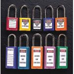 "Master Lock® Colored Xenoy Safety Padlocks, 1 ½"" Shackle"