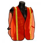 Economy Orange Mesh Vest with Lime Reflective - M to 4XL