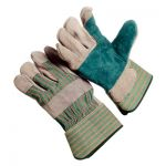 Shoulder Split Leather Double Palm Gloves - Safety Cuff/Sold by the dozen.