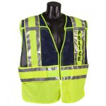 ANSI Class 2 - POLICE Blue/Lime Public Safety Vests
