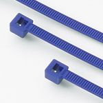 "Metal Detectable 10"" Releasable Cable Ties - 100/pk"