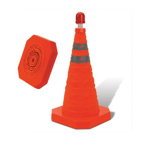 "28"" Collapsible Cone W/LED Light Topper"