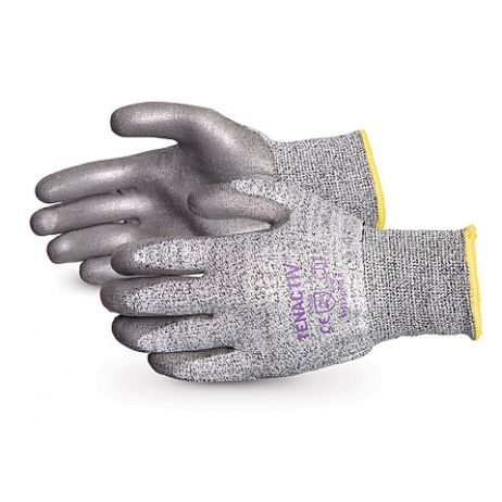 Superior® TenActiv™ Composite Knit Cut-Resistant Gloves with Grey PU-Coated Palms
