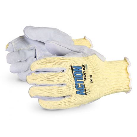 Superior® Action Kevlar Cut-Resistant String-Knit with Double Leather Palm
