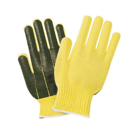 Kevlar® Regular Weight PVC Palm Coated Glove/Sold by the dozen.