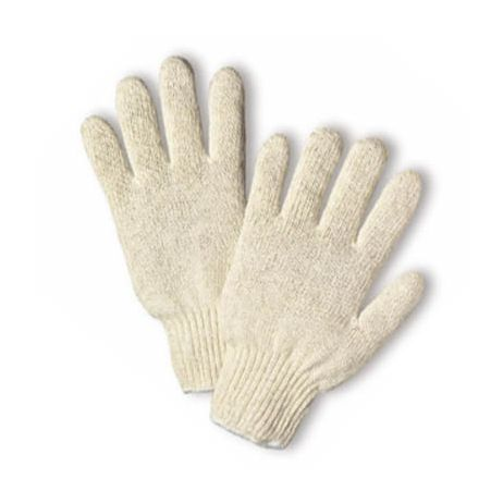 Heavyweight Knit Poly/Cotton Blend String Glove - 7-Cut/Sold by the dozen.