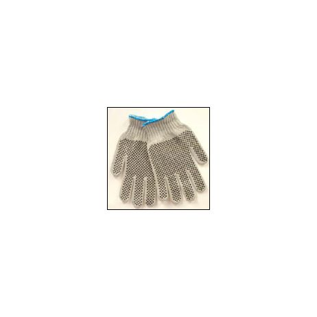 Two-Sided PVC DOT String Gloves/Sold by the dozen.