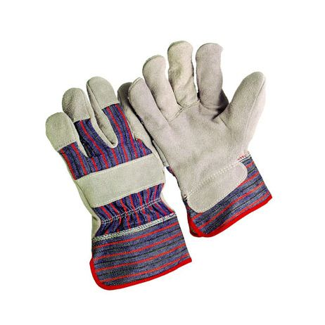Economy Shoulder Split Leather Palm Gloves - Standard Safety Cuff/Sold by the dozen.