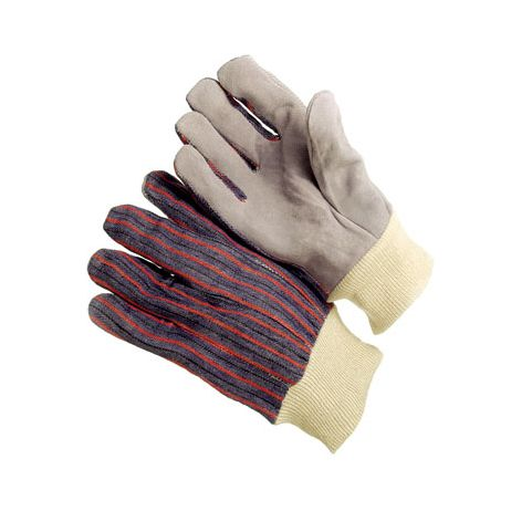 Shoulder Split Leather Palm Gloves - Knitwrist/Sold by the dozen.
