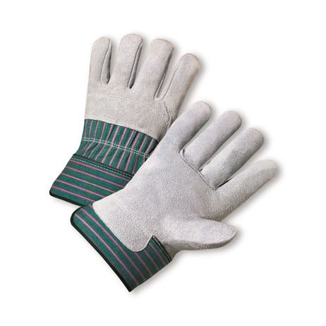 Leather Palm ¾ Leather Back Gloves - Safety Cuff/Sold by the dozen.