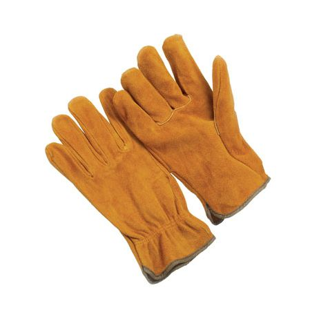 Russet Split Cowhide Drivers Gloves/Sold by the dozen.