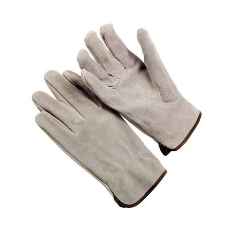 Gray Split Cowhide Drivers Gloves/Sold by the dozen.