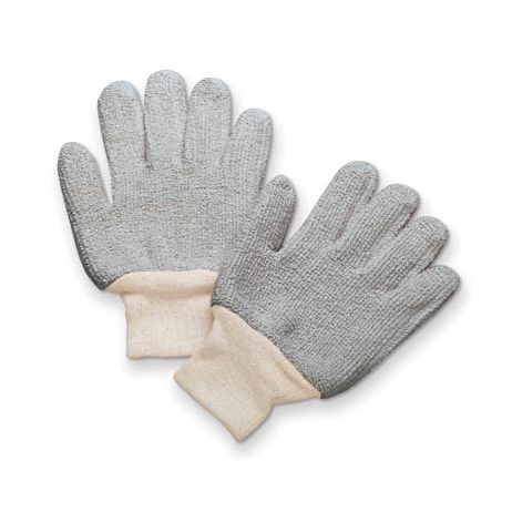 24 oz. Economy Terry Gloves - Gray/Sold by the dozen.