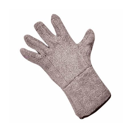 Heavyweight Brown Terrycloth Gloves - Gauntlet Cuff/Sold by the dozen.