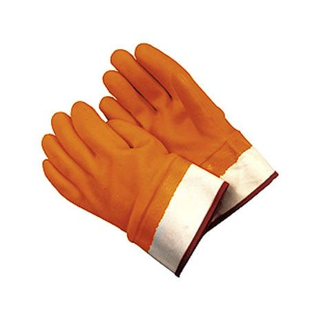 Double-Dipped PVC Insulated Glove - Safety Cuff/Sold by the dozen.