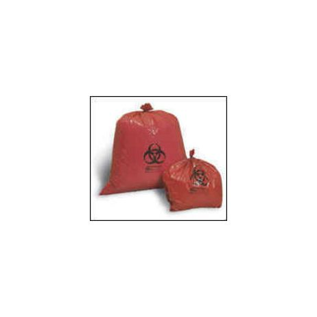 "Biohazard Waste Bags, Red, 24"" x 24""—10 gal."
