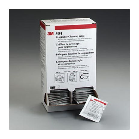 3M™ 504 Respirator Cleaning Wipe - Alcohol-Free